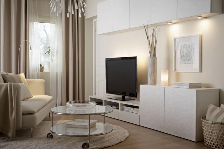 Бежевая гостиная 16 кв.м. - Дизайн интерьера