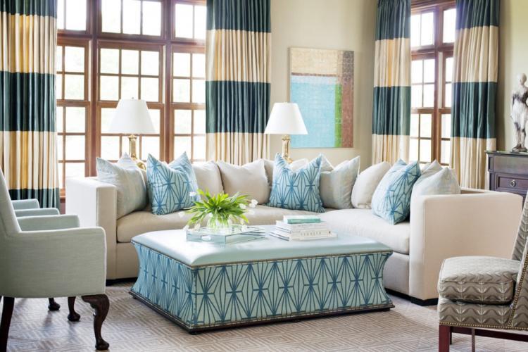 Текстиль и декор - Дизайн гостиной 16 кв.м.