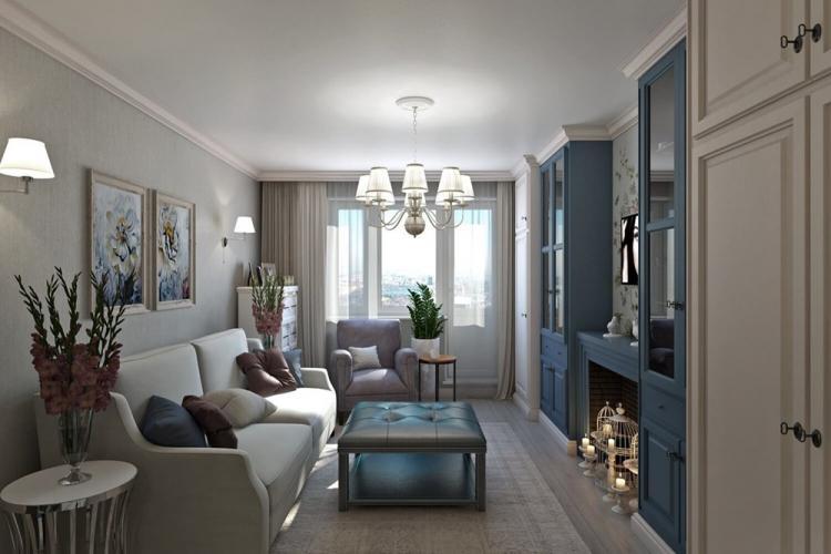Дизайн гостиной 16 кв.м. - фото реальных интерьеров