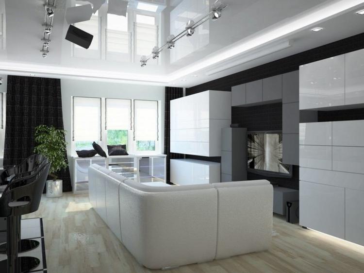 Гостиная 17 кв.м. в стиле хай-тек - Дизайн интерьера