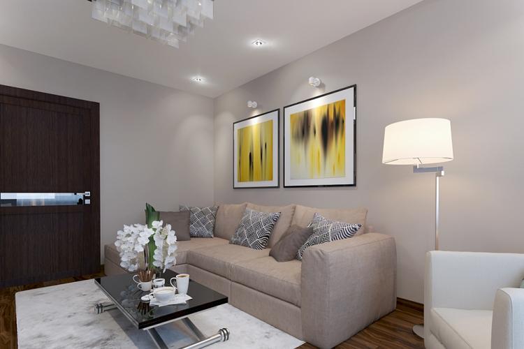 Освещение - Дизайн гостиной 17 кв.м.