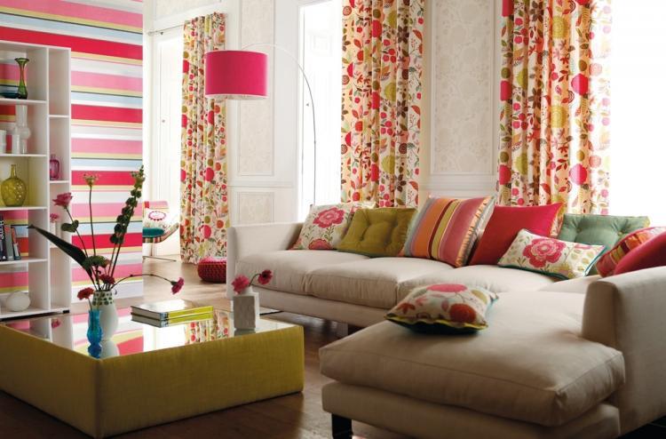 Текстиль - Дизайн гостиной 17 кв.м.