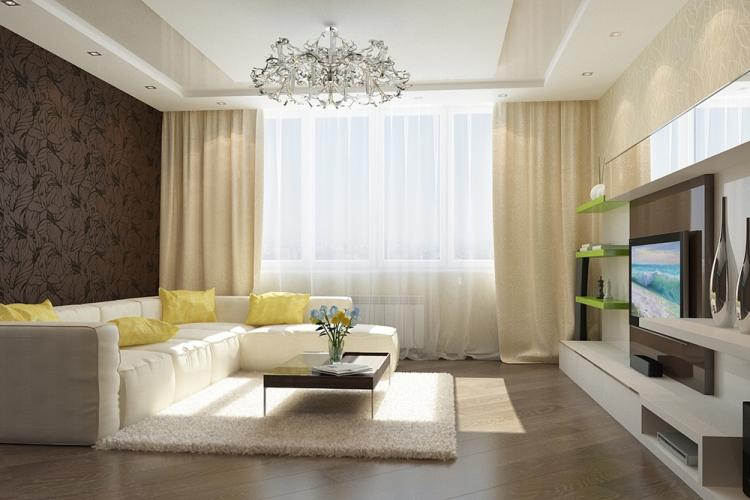 Дизайн гостиной 17 кв.м. - фото реальных интерьеров