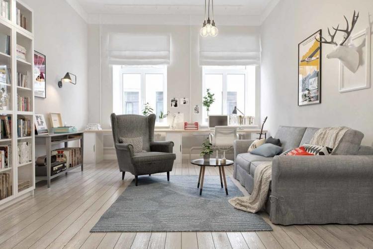 Гостиная 18 кв.м. в скандинавском стиле - Дизайн интерьера