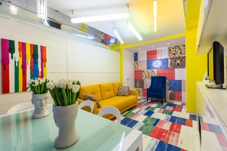 Гостиная 18 кв.м. в стиле поп-арт - Дизайн интерьера