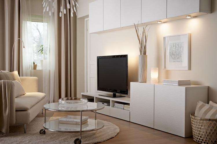 Бежевая гостиная 18 кв.м. - Дизайн интерьера