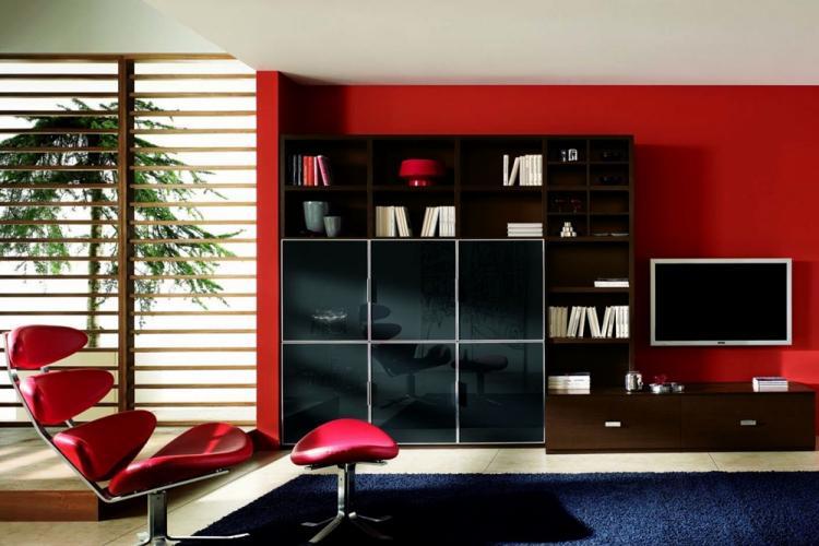 Красная гостиная 18 кв.м. - Дизайн интерьера