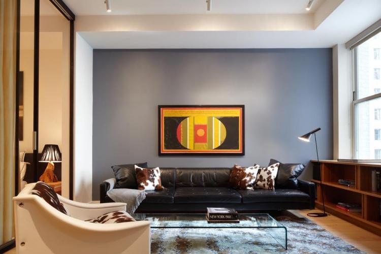 Отделка стен - Дизайн гостиной 18 кв.м.