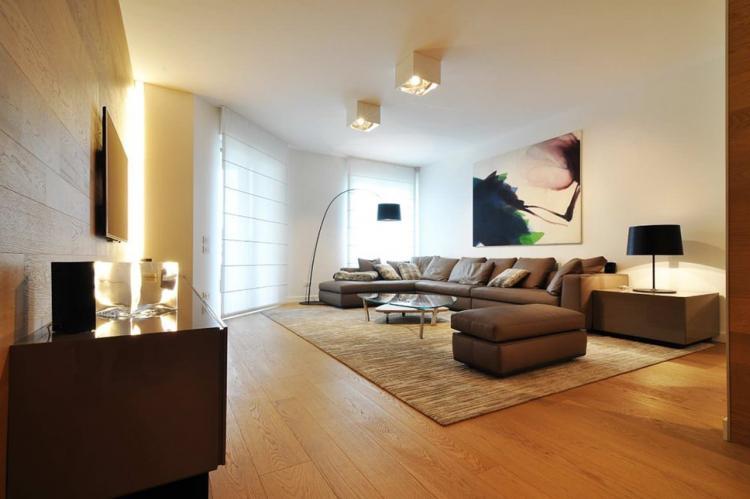 Отделка пола - Дизайн гостиной 18 кв.м.