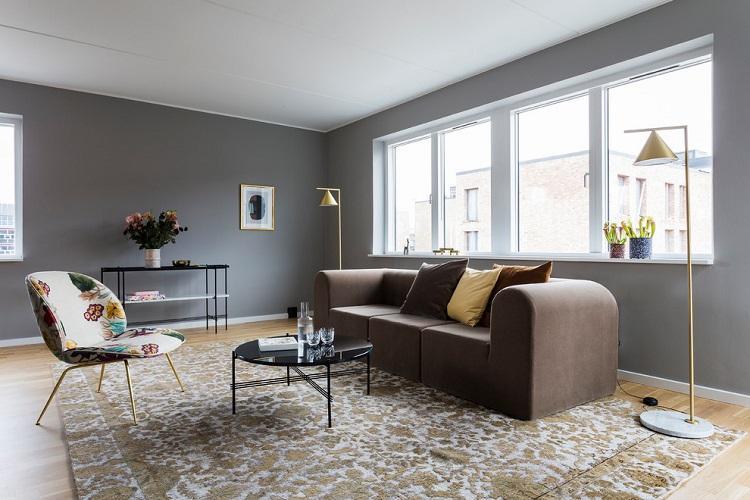 Отделка потолка - Дизайн гостиной 2019