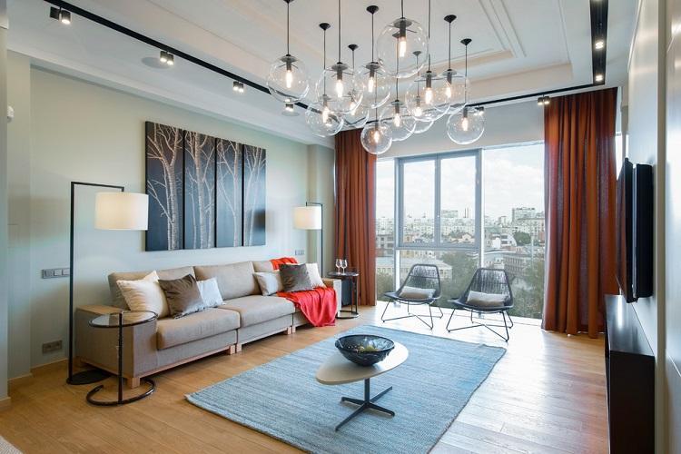 Освещение и декор - Дизайн гостиной 2019