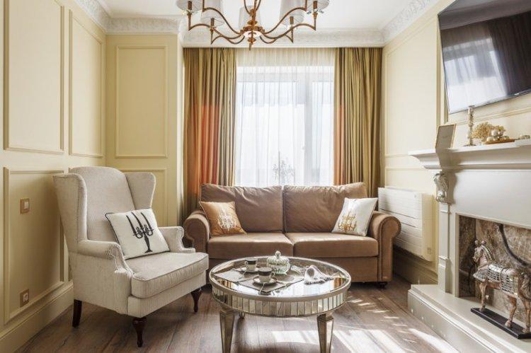Дизайн маленькой гостиной в классическом стиле