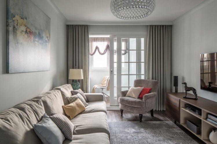 Гостиная в классическом стиле - дизайн интерьера фото