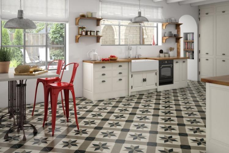 Отделка пола - Дизайн интерьера кухни