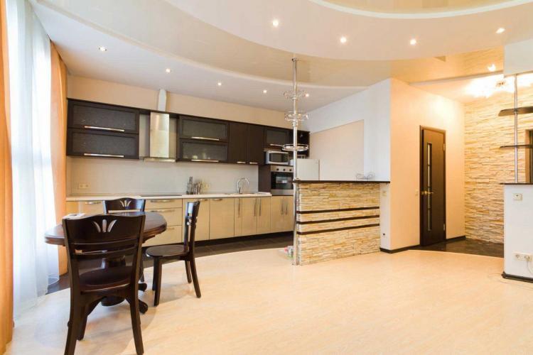 Отделка потолка - Дизайн интерьера кухни
