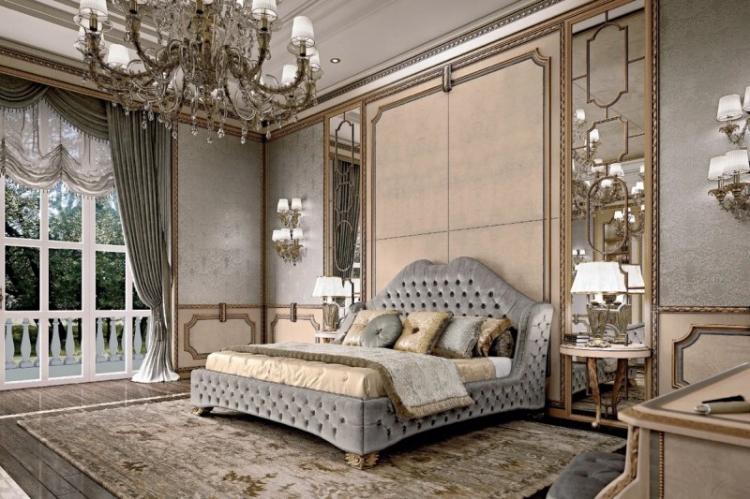 Дизайн интерьера спальни в стиле барокко