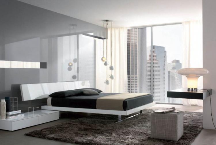 Дизайн интерьера спальни в стиле хай-тек