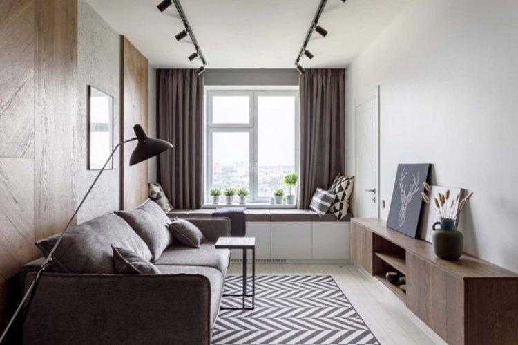 Бежево-коричневые тона - Скандинавский стиль в интерьере