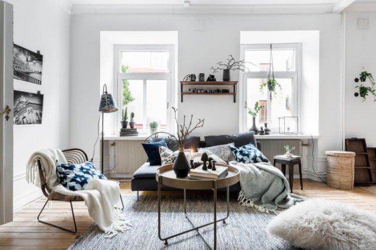 Гостиная в скандинавском стиле - дизайн интерьера фото