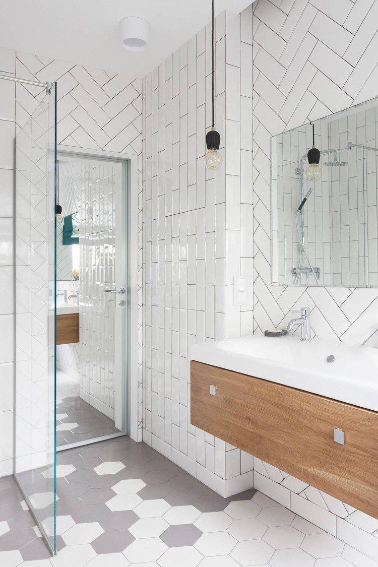Ванная комната в скандинавском стиле - дизайн интерьера фото