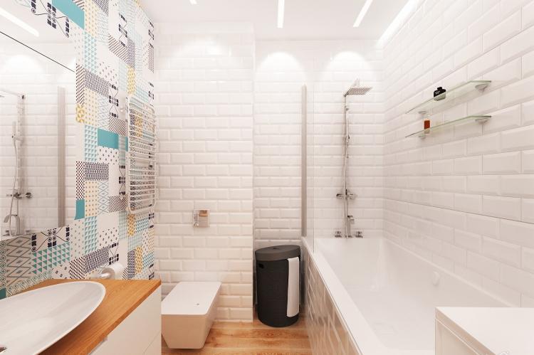 Ванная комната в скандинавском стиле - Дизайн интерьера
