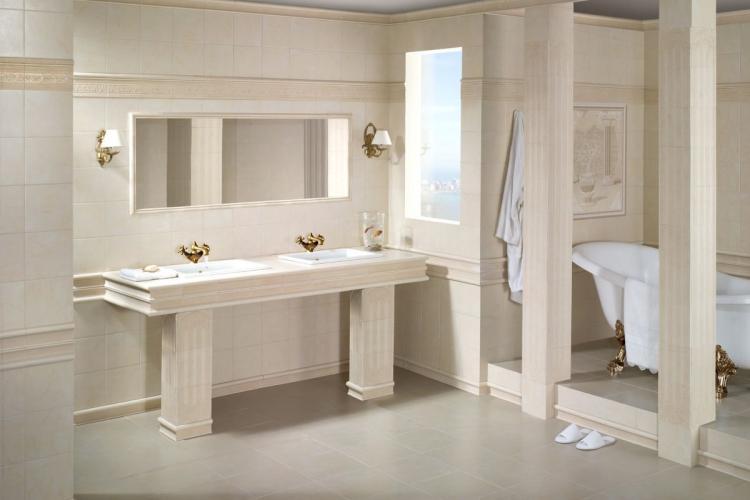 Ванная комната в греческом стиле - Дизайн интерьера