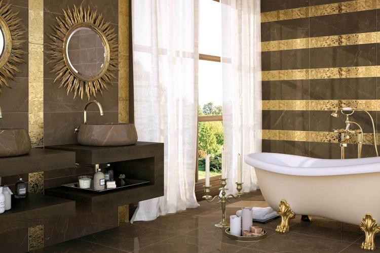 Ванная комната в стиле барокко - Дизайн интерьера