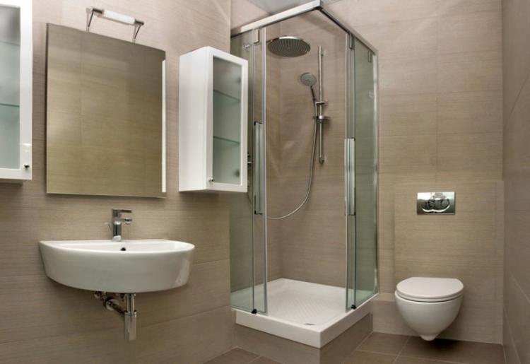 Душевая кабина - Дизайн интерьера ванной комнаты