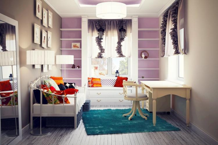 Отделка пола - Дизайн комнаты для девочки-подростка