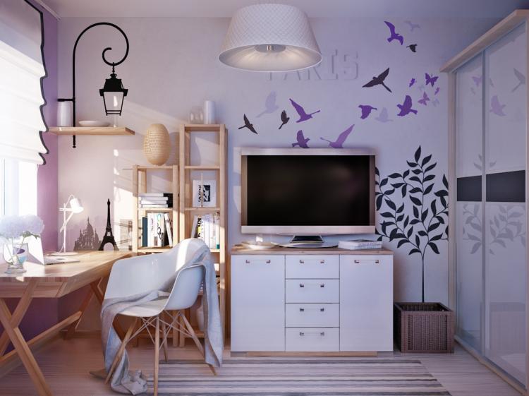 Оформление рабочей зоны - Дизайн комнаты для девочки-подростка