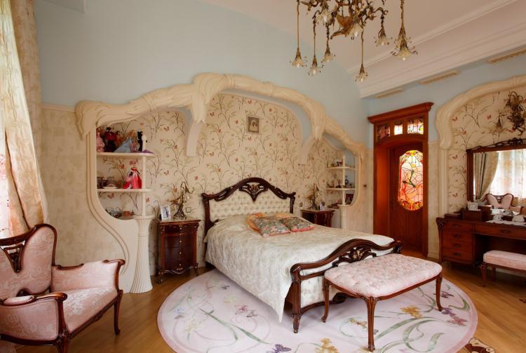 Комната для девочки-подростка в стиле ар-нуво - Дизайн интерьера