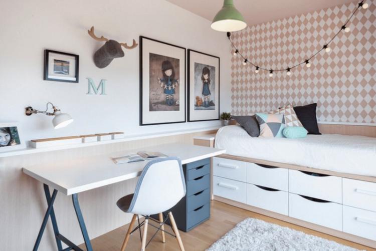 Комната для девочки-подростка в скандинавском стиле - Дизайн интерьера