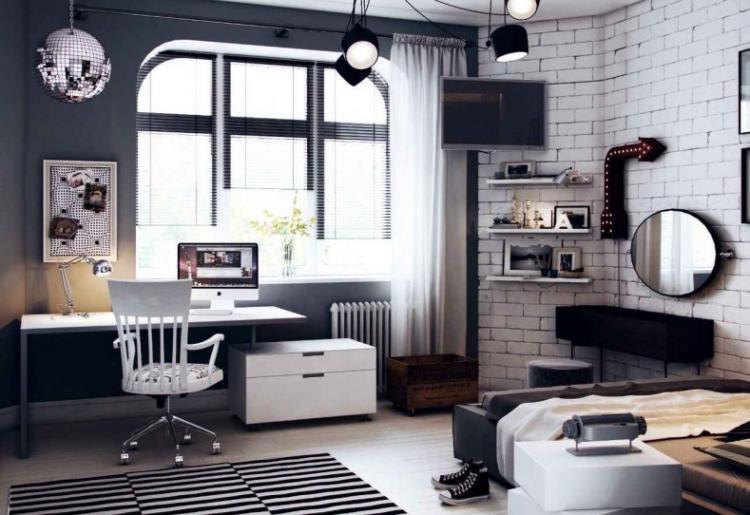 Черно-белая - Дизайн комнаты для девочки-подростка