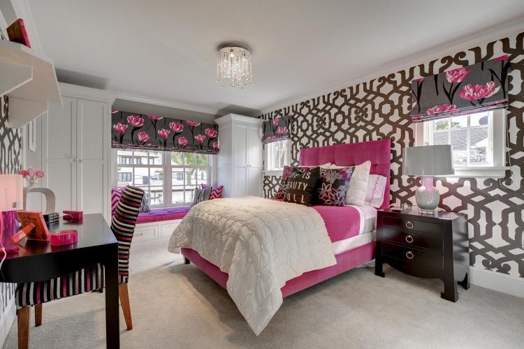Розовая - Дизайн комнаты для девочки-подростка