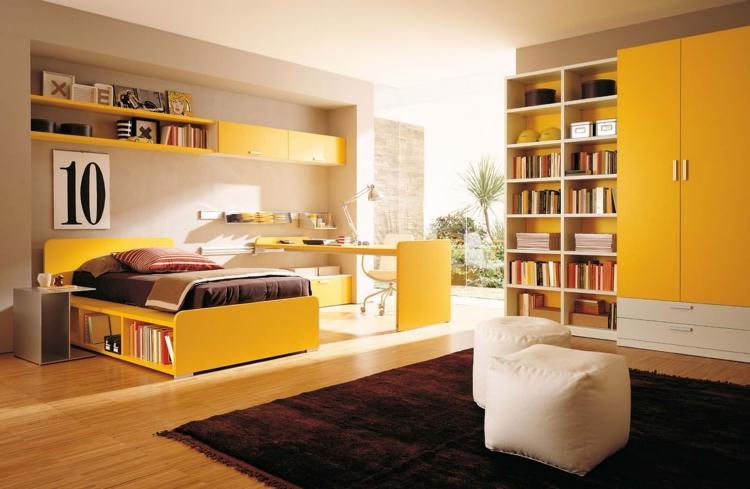 Желтая - Дизайн комнаты для девочки-подростка