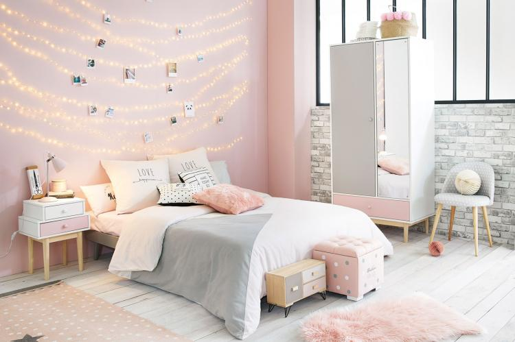 Пастельные оттенки - Дизайн комнаты для девочки-подростка