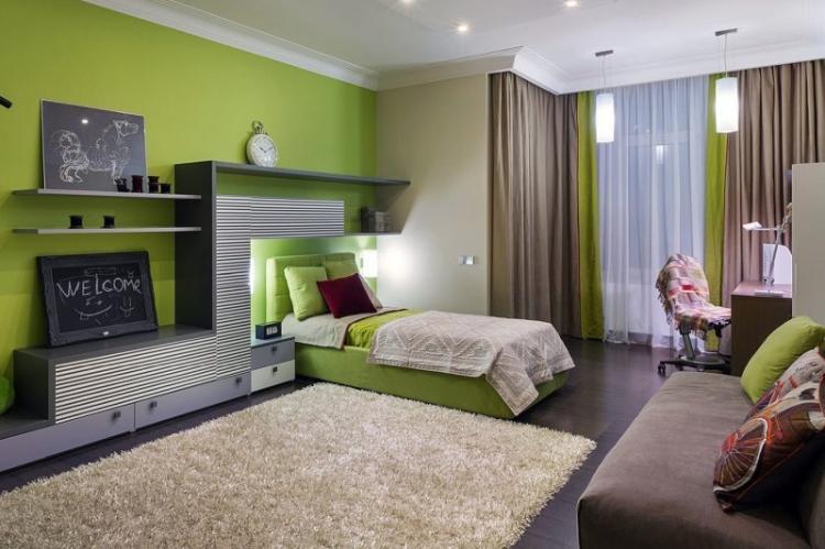 Природные оттенки - Дизайн комнаты для девочки-подростка