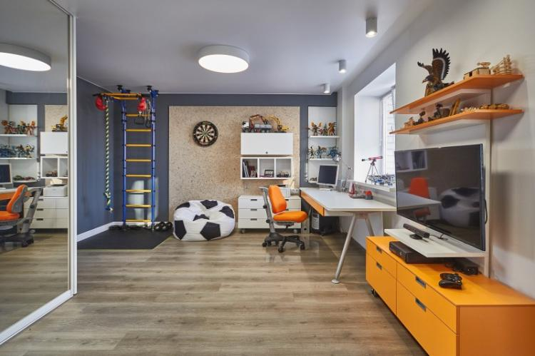 Комната для мальчика-подростка 10-12 лет - Дизайн интерьера