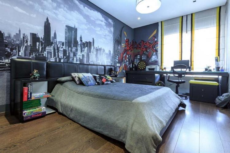 Комната для мальчика-подростка от 15 лет - Дизайн интерьера