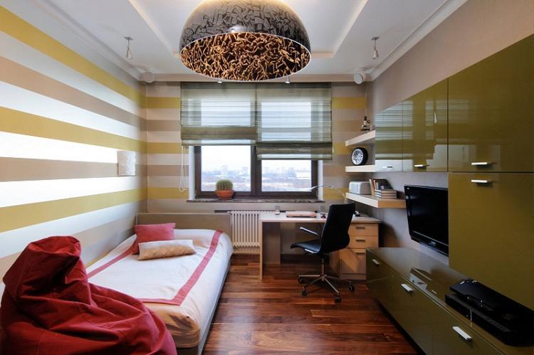 Дизайн комнаты для мальчика-подростка в современном стиле
