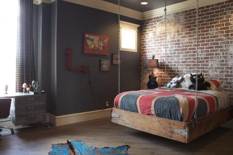 Дизайн комнаты для мальчика-подростка в стиле лофт