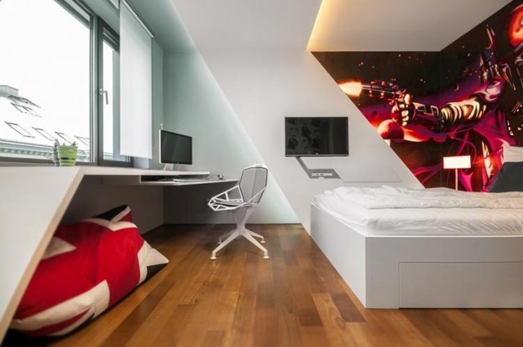 Дизайн комнаты для мальчика-подростка в стиле хай-тек