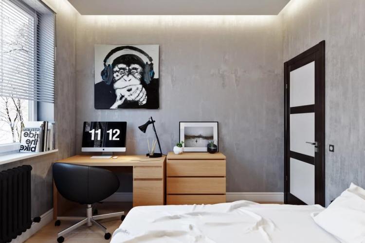 Дизайн комнаты для мальчика-подростка в стиле минимализм