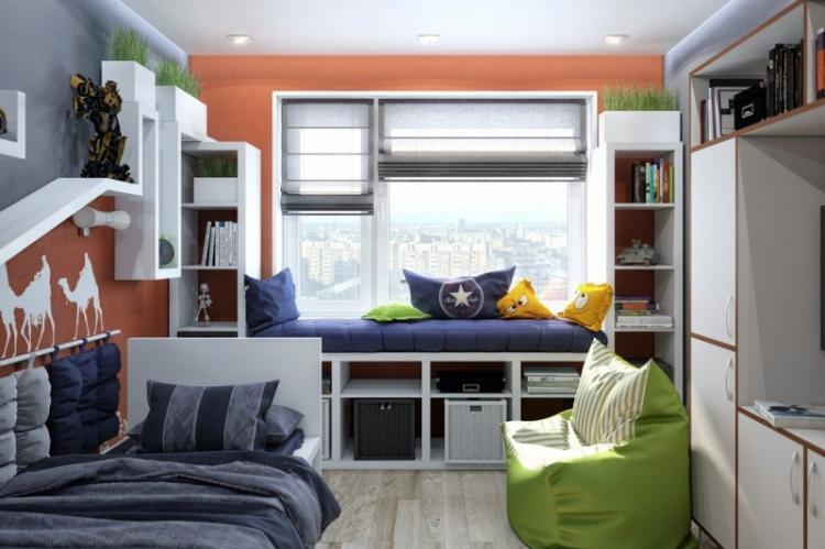 Комната для мальчика-подростка - дизайн интерьера фото