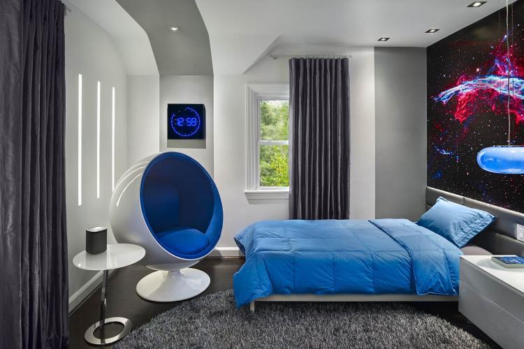 Комната для подростка в стиле хай-тек - Дизайн интерьера
