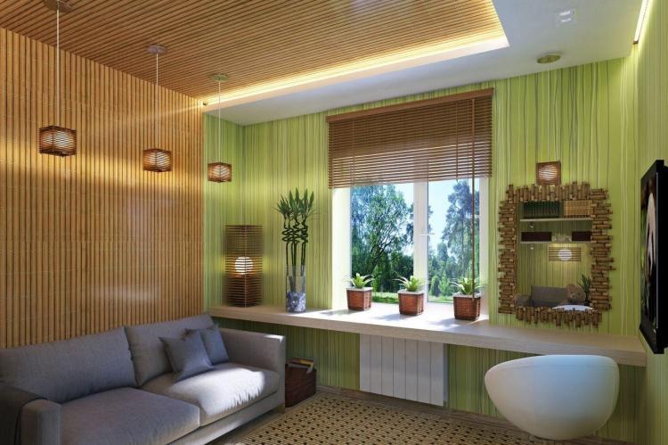 Комната для подростка в эко-стиле - Дизайн интерьера