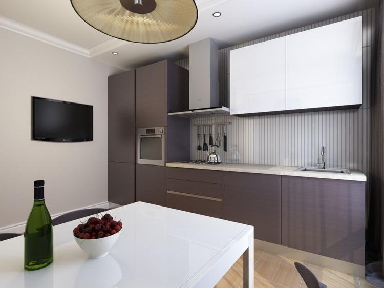 Кухня 10 кв.м. в стиле минимализм - Дизайн интерьера