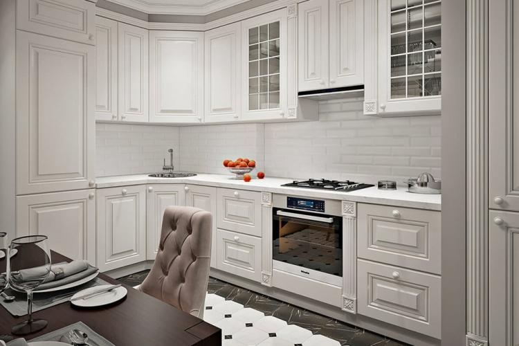 Кухня 10 кв.м. в стиле неоклассика - Дизайн интерьера