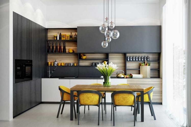 Кухня 10 кв.м. в современном стиле - Дизайн интерьера