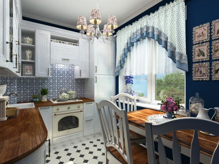 Кухня 10 кв.м. в стиле прованс - Дизайн интерьера